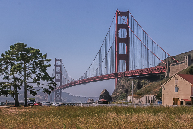 The Golden Gate Bridge from the Bay Area Discovery Museum at Fort Baker.
