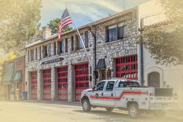The Carmel Fire Station on 6th between Mission and San Carlos.