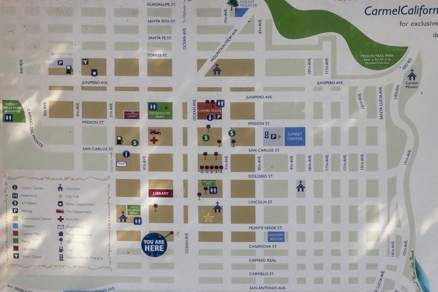 Map of central Carmel.