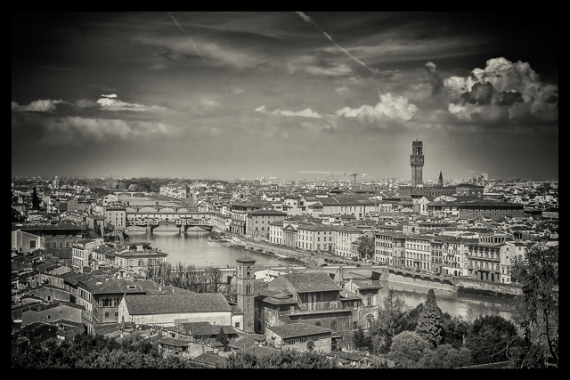 View of Florence and the River Arno from xx.