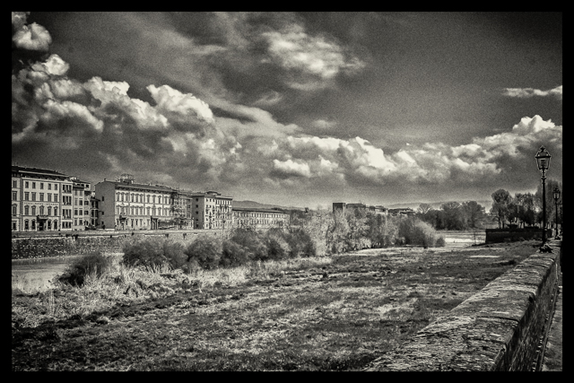 The view as we walked along the Arno on our walk back from xx to central Florence.