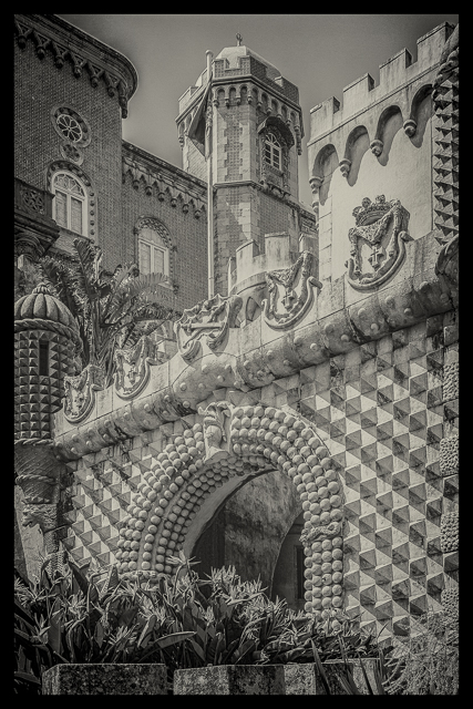 The Pena National Palace. This will be my entry for Leanne Cole's Monochrome Madness Challenge this week.
