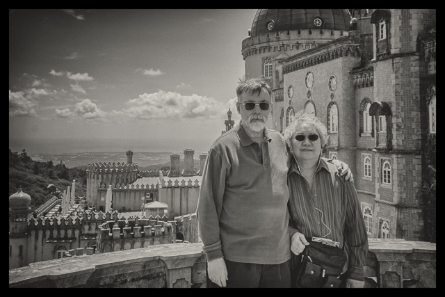 Here we are at one of the many palace view spots. I took a picture of anther couple with their camera and one of them returned the favor and took this picture with my camera.