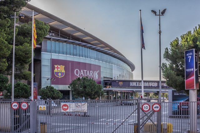 Camp Nous,  Spain's largest stadium and home of FC Barcelona.