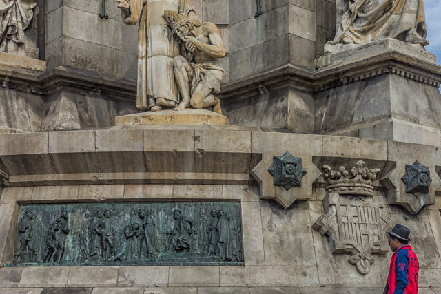One of eight reliefs around the monument sculpted by Josep x.