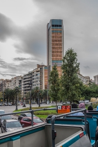 An example of the more modern architecture on Avenue Diagonal.
