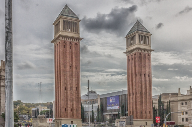 The Venetian Towers at the Placa d'Espana.