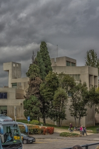 Fundacio Joan Miro on Montjuic.