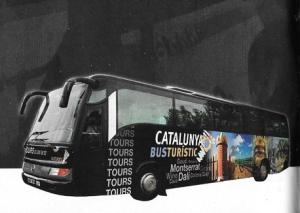 One of Catalunya Busturistic's famous black buses (photo from the Catalunya Busturistic Tours from Barcelona brochure).