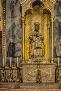 Montserrat's Black Madonna has a place at the Cathedral, too.
