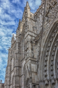 The Gothic cathedral is 800 years old but its facade is Neogothic -- completed in the 19th century.
