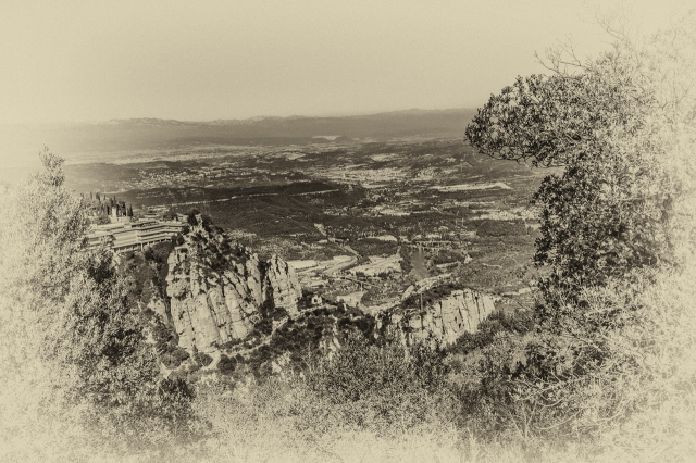 View from a trail on Montserrat.