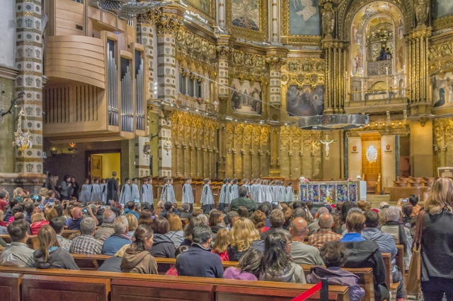 The famous Boys Choir enter the crowded Basilica for their performance which is held almost daily at 1pm.