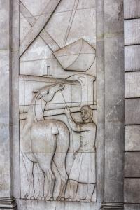 Relief near entrance to Zara store on Passeig de Gracia.