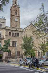 La Concepcio. This church was originally located in the old part of town but was moved to the Eixample, brick by brick, in 1870.