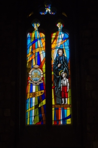 Stained glass windows in La Concepcio.
