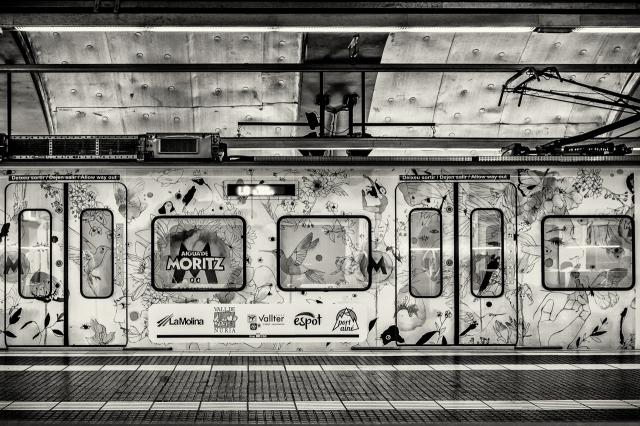 The Barcelona L6 line at the Placa de Catalunya Metro station.