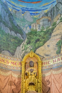 Black Madonna in the basilica of Sagat Cor atop Tibidabo.