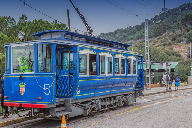 The Tramvia Blau car reminds me of our San Francisco Cable Car. These trams have been around since 1901.