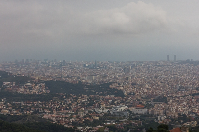 Barcelona from the roof of Sagrat Cor.