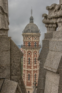 View of old water tower.
