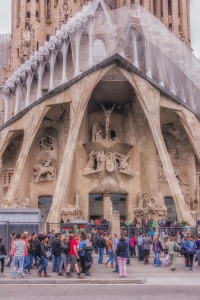 Close-up of the Passion Facade.