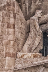 The evangelist recording the scene above is in the image of Antoni Gaudi.