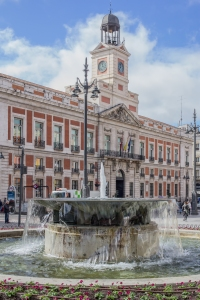 The old Post Office Building now houses the office of the President of the Community of Madrid.