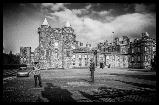 Edinburgh's Holyrood Palace was closed the day we visited. Prince Charles wouldn't let us in.