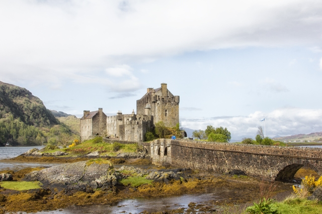 The Eilan Donan Castle is in the western Highlands just over the bridge from the Isle of Skye.