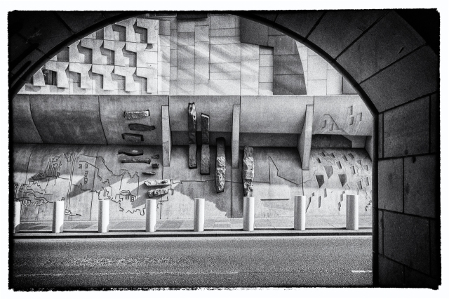 The Canongate Wall of the Scottish Parliament is my entry for this week's Monochrome Madness Challenge.