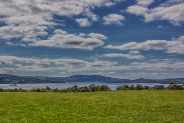 View of Loch Lomond from Balmaha on its eastern shore.