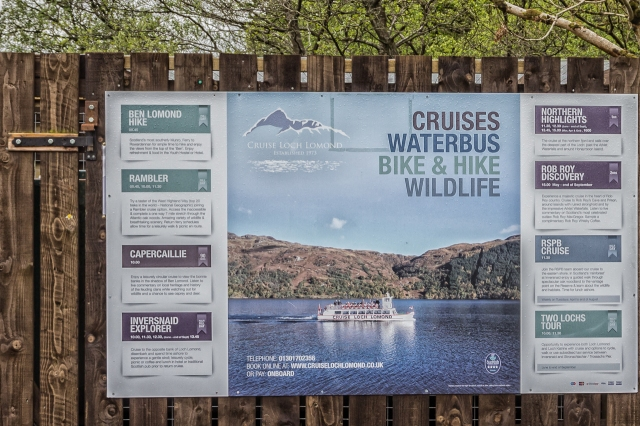 Some of the things you can do at Loch Lomond.