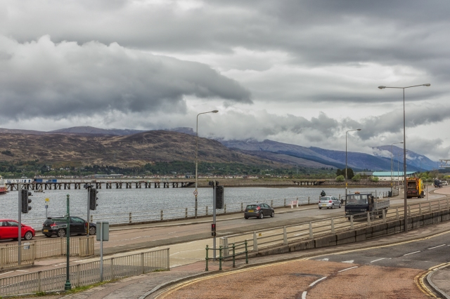 Highway A82 is the main route through Fort William.