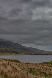 Our first view of The Old Man of Storr.