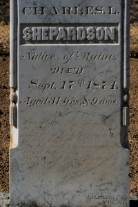 Closeup of headstone. Here is the poem inscribed: xx