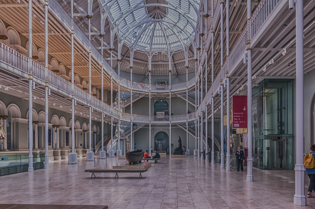The National Museum of Scotland Grand Gallery.