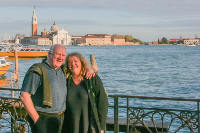 Henry and Geraldine at Piazza San Marco in Venice (2009).