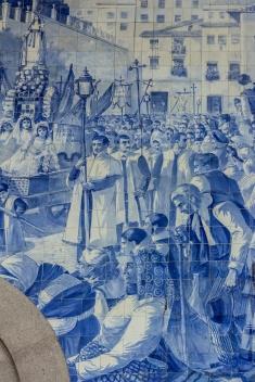 Image result for procession of Nossa Senhora dos Remédios in Lamego sao bento station pictures
